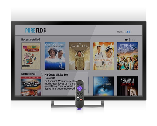 Pure Flix is Available on Roku Powered Smart TVs